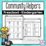 Community Helpers Worksheets for Preschool and Kindergarten