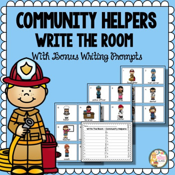 Community Helpers Write The Room Freebie