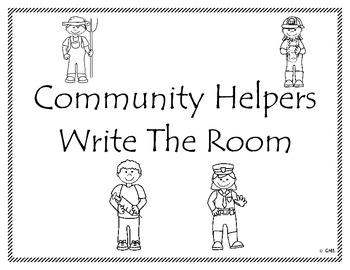Community Helpers Write the Room