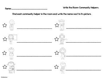 Community Helpers: Write the Room