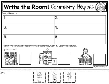 Community Helpers Write the Room