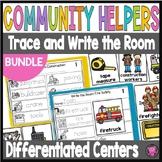 Community Helpers Kindergarten Write the Room Activities Bundle