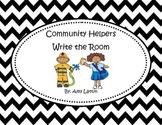 Community Helpers Write the Room - CVC and CCVC/CVCC Sets