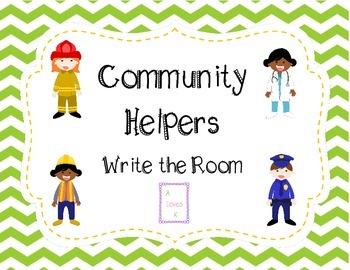 Community Helpers Write the Room *Freebie*