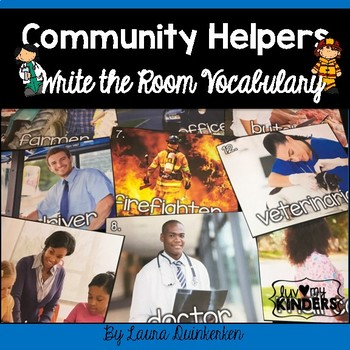 Community Helpers Write the Room Vocabulary