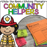 Community Helpers - Write the Room Writing Prompts {Cardstock or Post It Notes}
