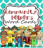 Community Helpers Writing Cards for Writing Center