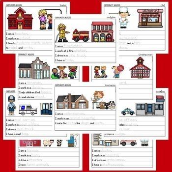 Community Helpers Writing Pack BUNDLE: 22 Community Helpers, 6 Options!