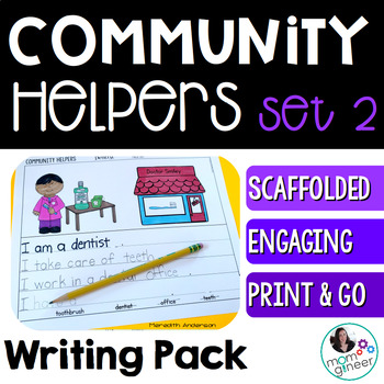 Community Helpers Writing Pack SET 2: 6 Options!