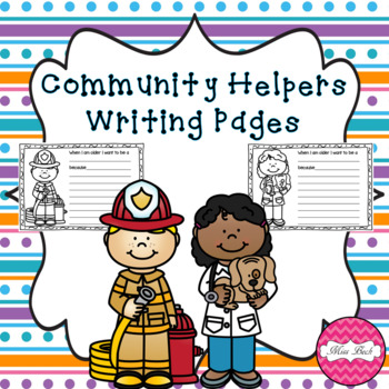 Community Helpers Writing Pages