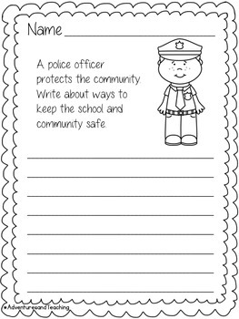 Community Helpers Writing Prompts