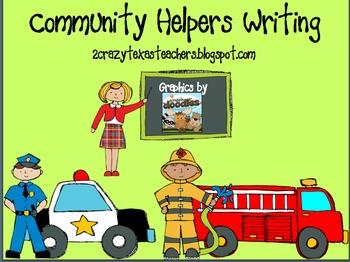 Community Helpers Writing & Reader