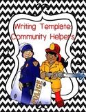 Community Helpers: Writing Template