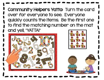 Community Helpers Yatta!!-A Fast Paced, Differentiated Number Fluency Game