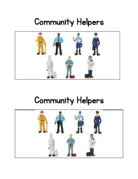 Community Helpers:  an Emergent Readers and comprehension activity.