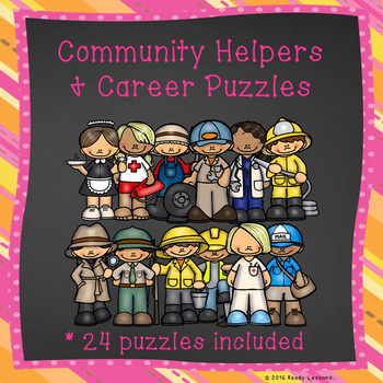 Career Exploration and Community Helpers Sorting Puzzles Center Activity