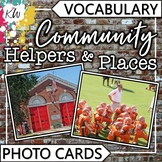 Community Helpers and Places Vocabulary Photo Flashcards