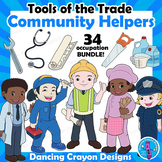 Community Helpers Clip Art with Props - Clipart BUNDLE - Careers and Tools