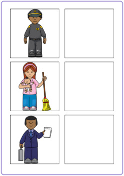 Community Helpers and Their Buildings Activity (No Labels!)