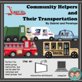 Interactive Book for Speech Therapy: Community Helpers and Their Transportation