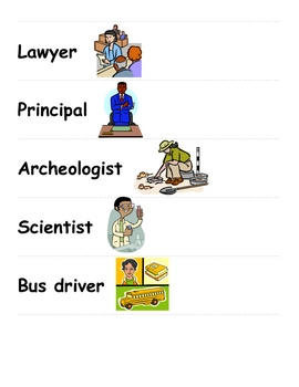 Community Helpers and Tools Vocab Cards