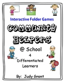 Community Helpers at School Interactive Folder Games