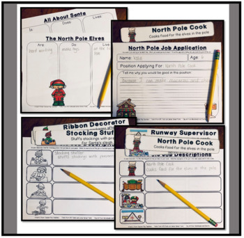 Community Helpers at The North Pole- A Writing Packet about Santa's Jobs