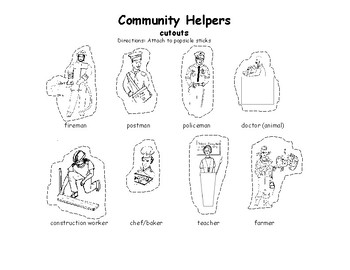 Community Helpers or Workers cut-outs