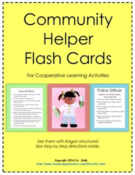 Community Helper Flash Cards for Cooperative Learning / Kagan Structures