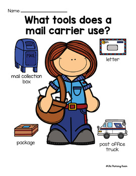 Community Helpers in Our Neighborhood Unit Mail Carrier FREEBIE!!