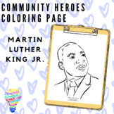 Community Heroes Coloring Page - Martin Luther King Jr.