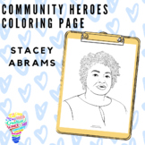 Community Heroes Coloring Page - Stacey Abrams