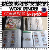 Community Work Tasks or File Folders BUNDLE