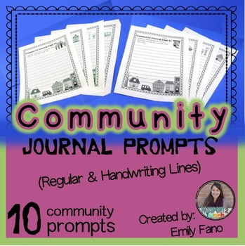Community Journal Writing Pages