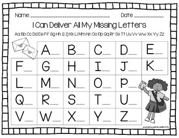 Community Letter Recognition - I Can Deliver All My Capital Letters