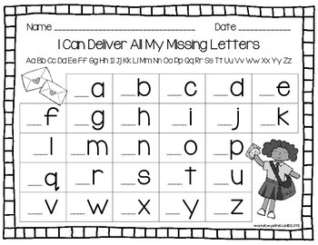 Community Letter Recognition - I Can Deliver All My Lowercase Letters
