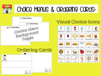Community Lunch/Snack Choice Menu & Ordering Cards {GROWING BUNDLE}