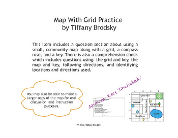 Community Map with Grid Comprehension Check or Practice fo