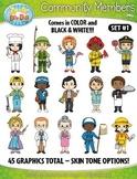 Community Members / Helpers Character Clipart Set 1 {Zip-A-Dee-Doo-Dah Designs}