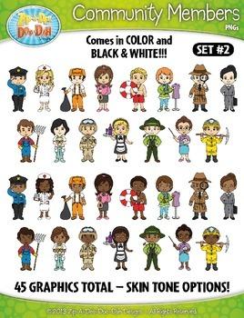 Community Members / Helpers Character Clipart Set 2 {Zip-A-Dee-Doo-Dah Designs}
