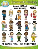 Community Members / Helpers Character Clipart Set 2 {Zip-A-Dee-Doo-Dah Designs}
