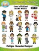 Community Members / Helpers Character Clipart Set 2 — Incl