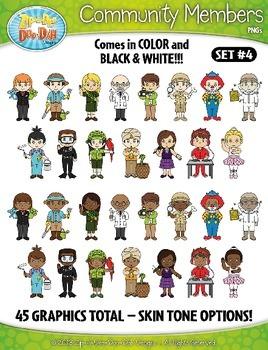 Community Members / Helpers Character Clipart Set 4 {Zip-A-Dee-Doo-Dah Designs}