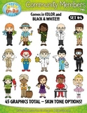 Community Members / Helpers Character Clipart Set 4 {Zip-A-Dee-Doo-Dah Designs}