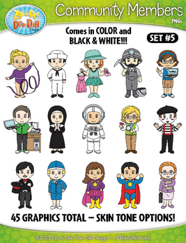 Community Members / Helpers Character Clipart Set 5 {Zip-A-Dee-Doo-Dah Designs}