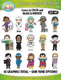 Community Members / Helpers Character Clipart Set 5 {Zip-A-Dee-Doo-Dah Designs}