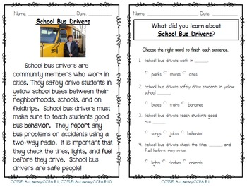 Community Members Unit- Focus on 15 Community Helpers- 131 Pages- CCSS Aligned
