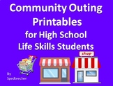 Community Outing Printable Activities for Secondary Life Skills Students