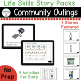 Community Outings Digital Story Packs  (Boom Learning Included)