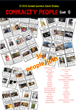(super discount!) Community People Poster and Flash Card Set 1